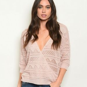 """Cute & Casual"" or ""SLAYED"" Blush Sweater (NWT)"